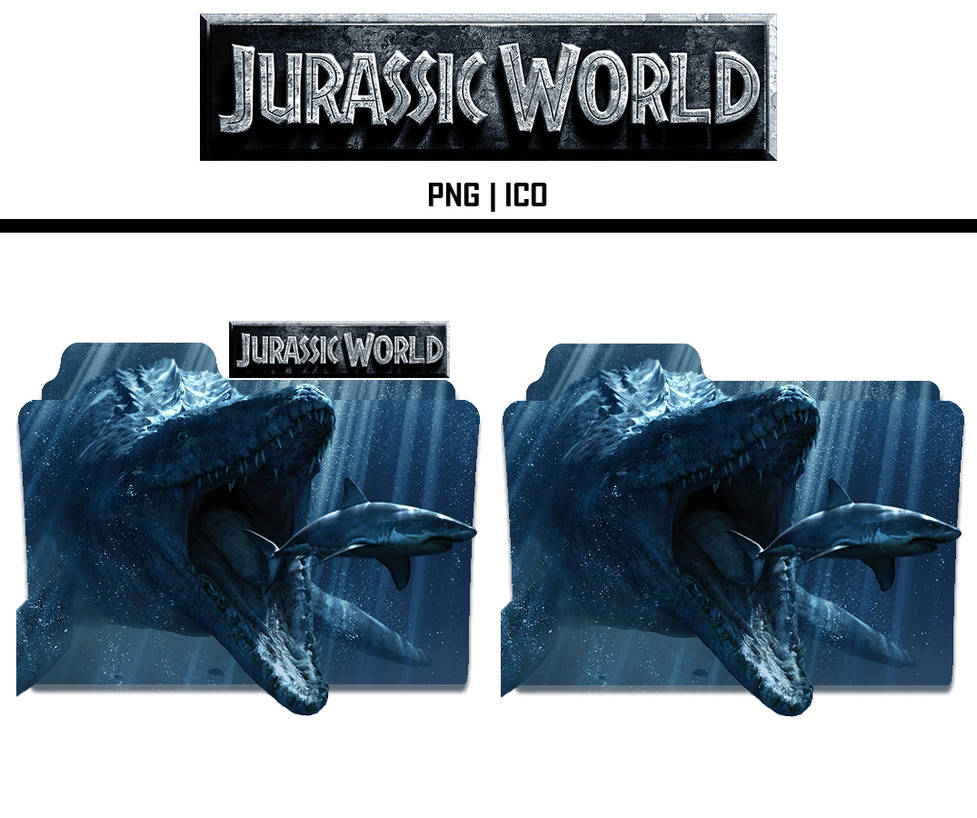 Jurrasic World (2015) Folder Icons Ico+PNG by TheSilent33 on