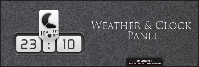 Weather and Clock Panel by lexestoo