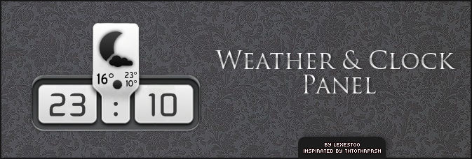 Weather and Clock Panel