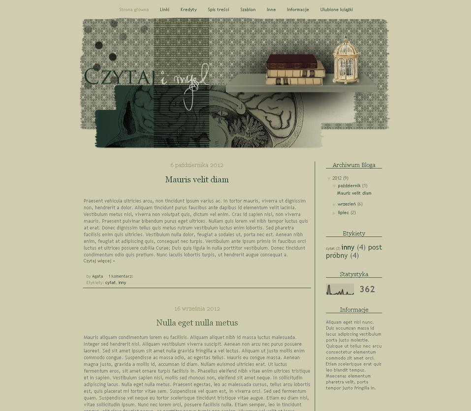Blogspot template Czytaj i myl by stupid-owl