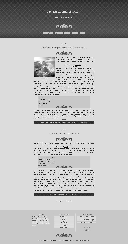 FREE Blogger template Szara elegancja by stupid-owl