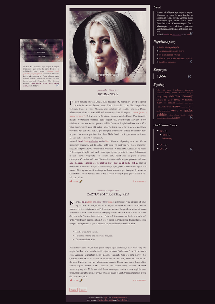 Blogspot template Dolina nocy by stupid-owl