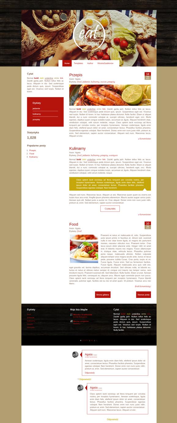 Blogspot template Kulinarny by stupid-owl