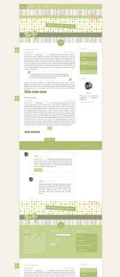 Blogspot template Sweet green