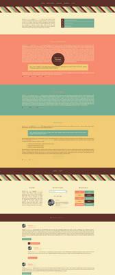 Blogspot template I'm so patterned