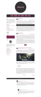 Blogspot template Violet love