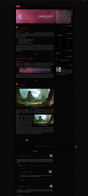 Blogspot template Dark star by stupid-owl