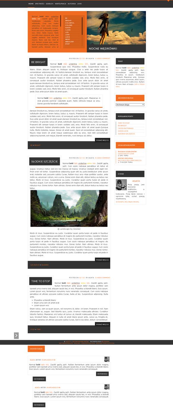 Blogspot template Summertime by stupid-owl