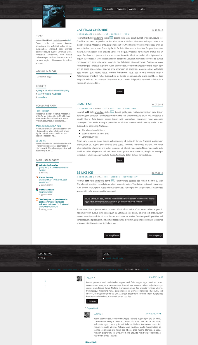 Blogger template Cat from Cheshire by stupid-owl