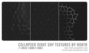 Collapsed night sky textures