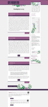 Blogger Template Lawendowy roz