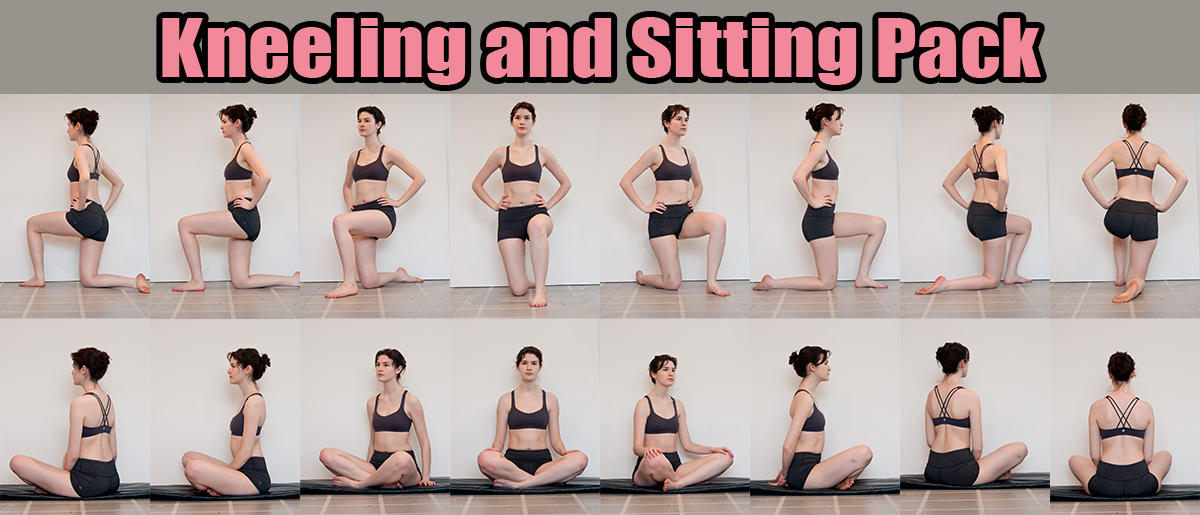 Kneeling and Sitting Stock Pack by RobynRose