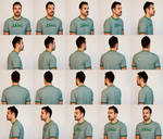 Male Head Turnaround Stock Pack by RobynRose