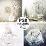 PSD Coloring #2: Glass jars and flowers