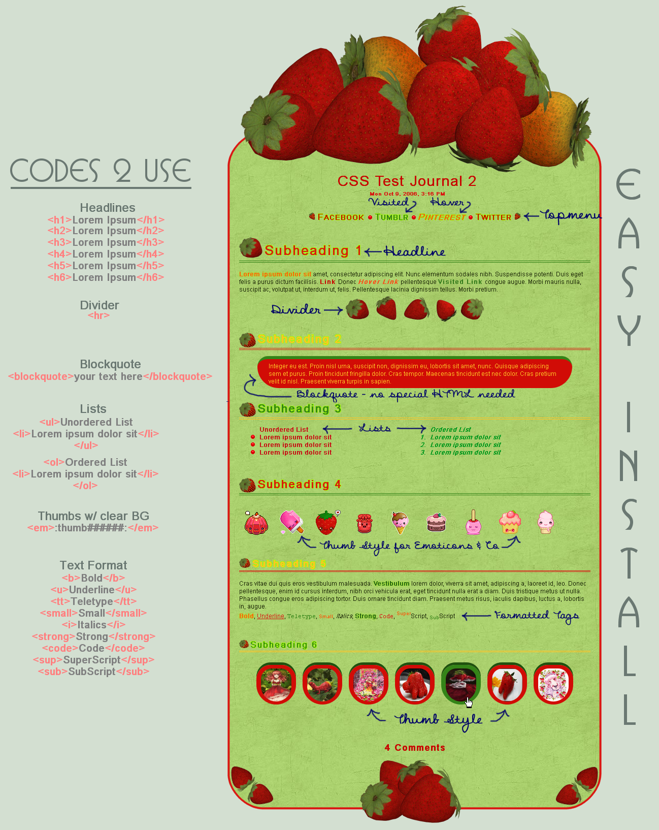 Strawberry Delight Journal - Easy.Install by poserfan
