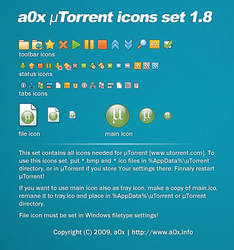 a0x uTorrent icons set 1.8