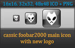 Classic foobar2000 main icon with new logo