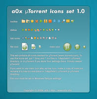 a0x uTorrent icons set 1.0