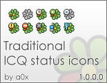 Traditional ICQ Status Icons by a0x