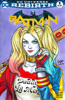 Harley Quinn Blank Cover Commission by WeijiC