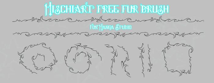 Free Manga Studio Brush:  Fur by MischiArt