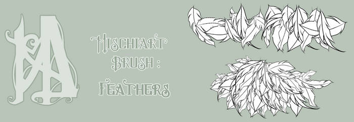Custom Manga/Clip Studio Brush Pack: Feathers