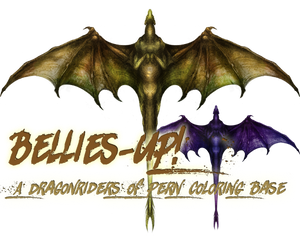 Pern: Bellies-up! (F2U Coloring TEMPLATE)