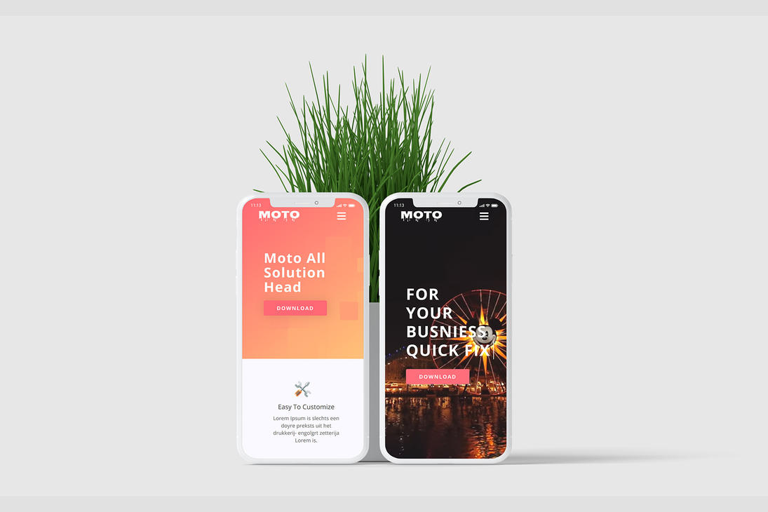 iPhone X Screen Mockup by jamb0e