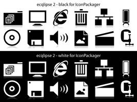 ecqlipse 2 BW for IconPackager by anthonium