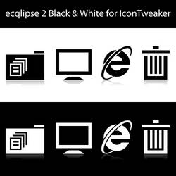 ecqlipse 2 BW for IconTweaker