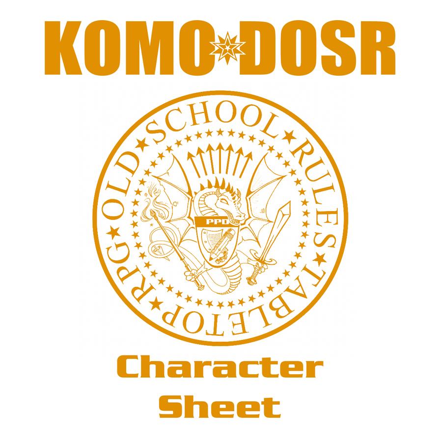 Komo Dosr Character Sheet Bundle by BarbecuedIguana