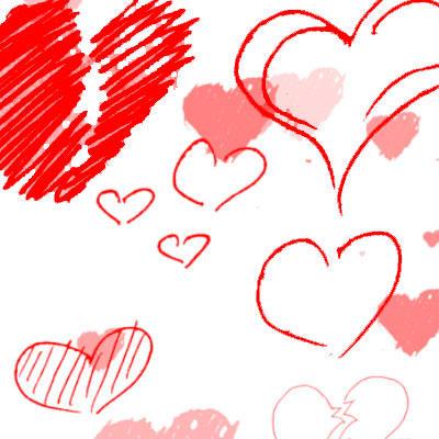 Hearts Photoshop Brushes by Sunira