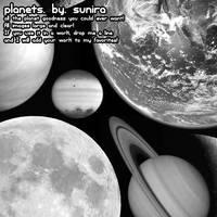 Planets Photoshop Brushes by Sunira