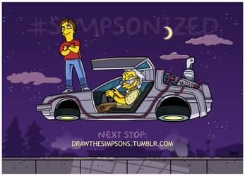 80s BTTF (animated) Simpsonized by ADN-z