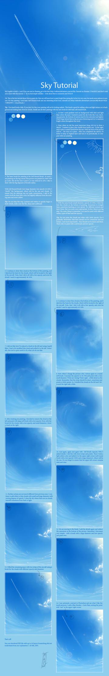 Sky Tutorial by SaisonRomantique