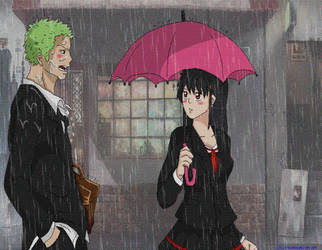 =OPHS= Zoro X Heba .:.Rain.:. by Heba-Asawa