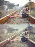 Photoshop action - Vintage effect