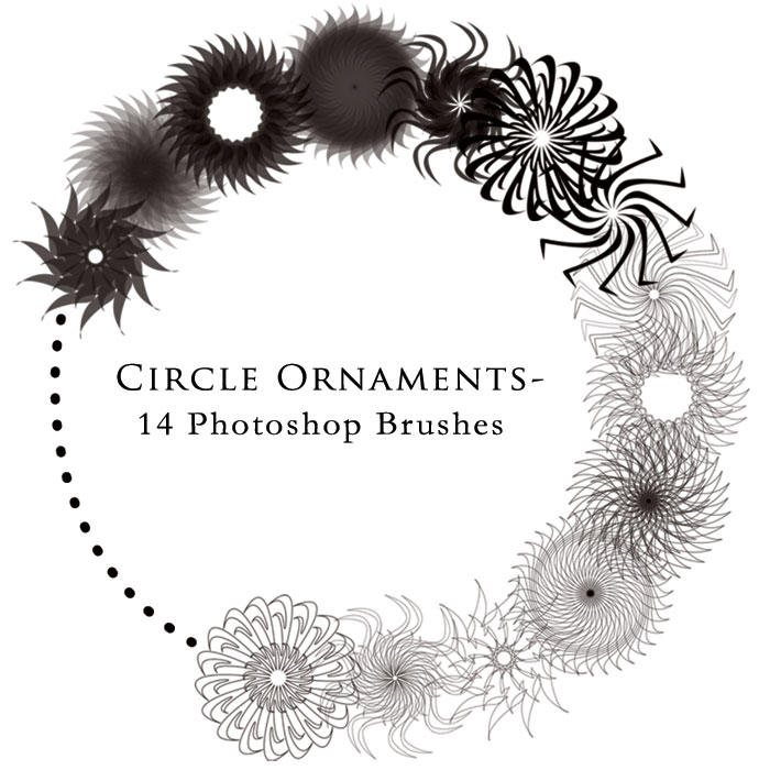 Circle Ornament Brushes by Trabzity