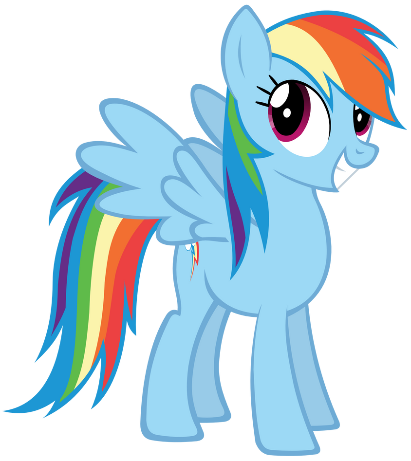excited rainbow dash by batbow on deviantart