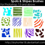 Spots and Stripes Brushes by skywestphalia