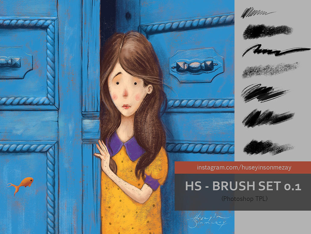 HS - CANVAS BRUSH SET 0.1 by sonmezay