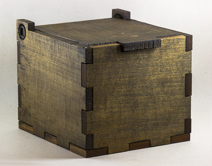 Wooden Rustic Stash Box