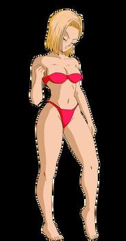 androide 18 bikini