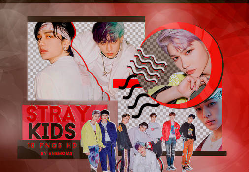STRAY KIDS (Go Live) - PNG PACK #1 by Anemoias