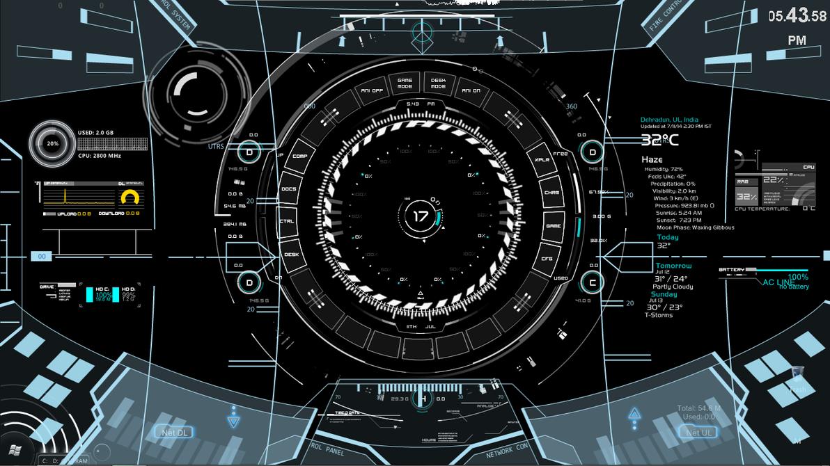 Black Pearl 2.0.9 Rainmeter Skin[Updated,Fixed] by