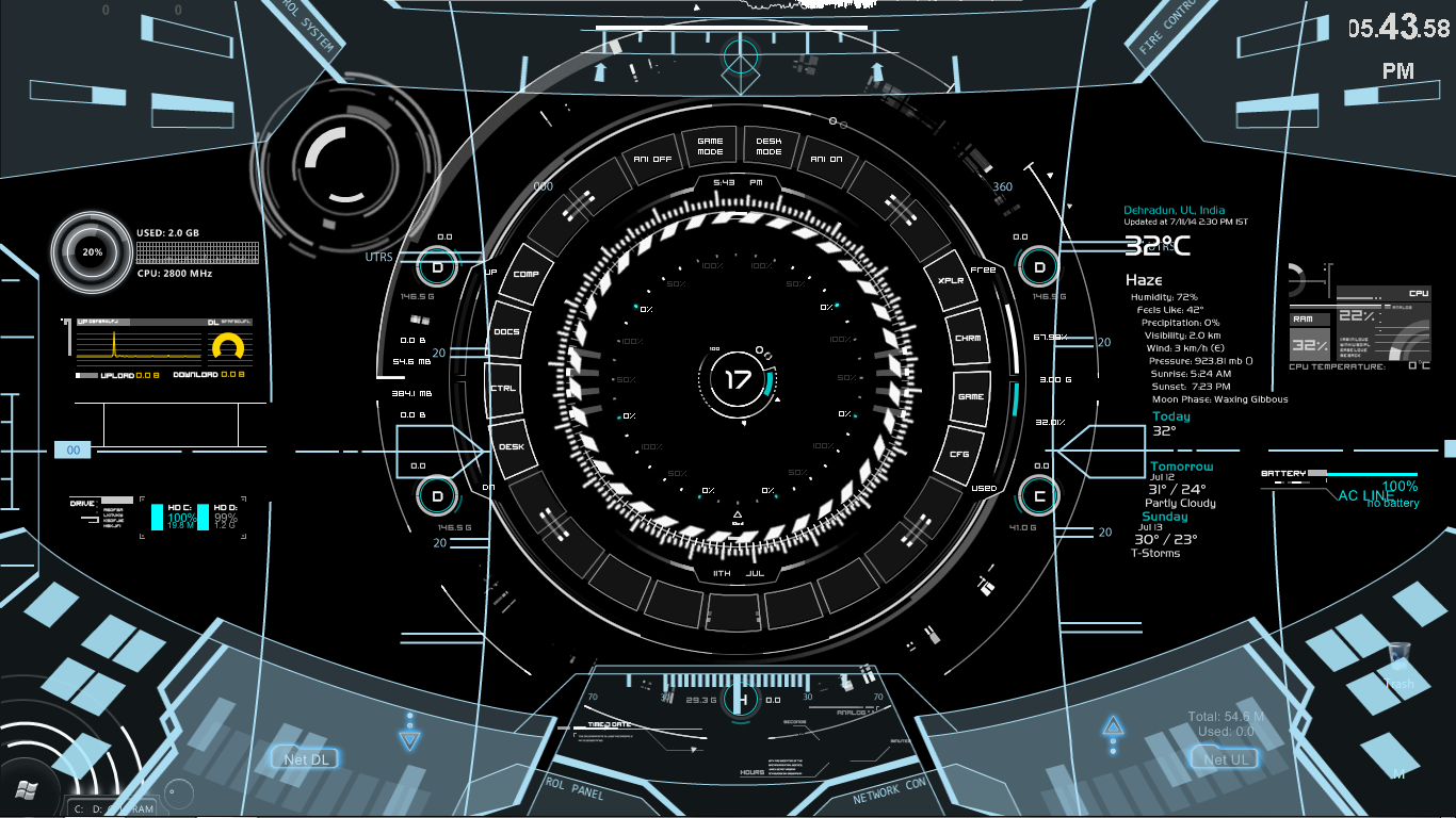 Rainmeter for Deviantart rainmeter