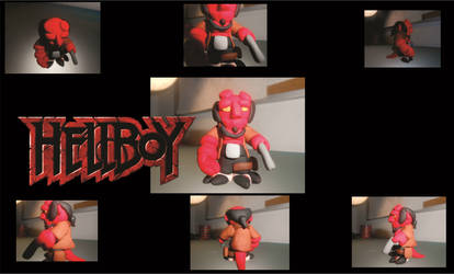 Hellboy enano Sculpey by kinikone-gamer