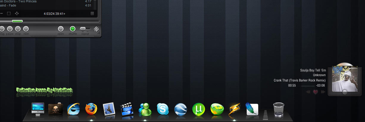 Reflective Dock Icons by nodeffect