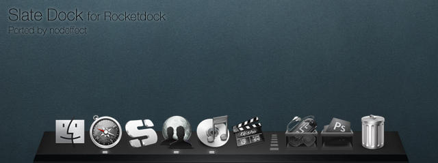 Slate Dock for Rocketdock by nodeffect
