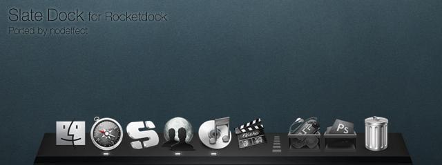 Slate Dock for Rocketdock by nodeffect